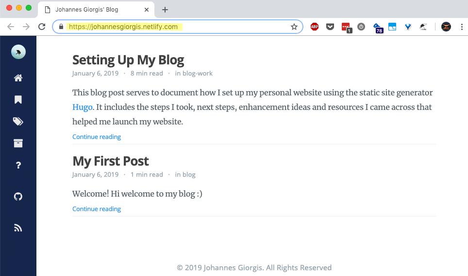 Website deployed on Netlify